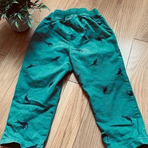 Hanna Andersson dinosaur pants 3T